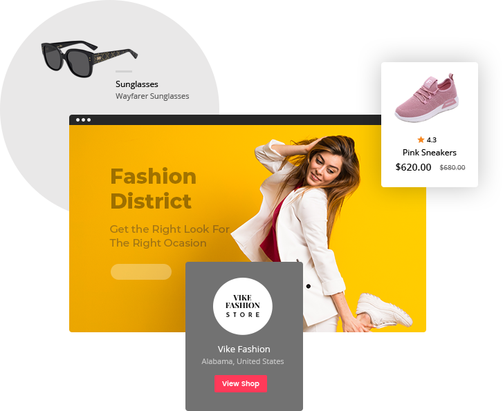 Key features in Yo!Kart marketplace platform